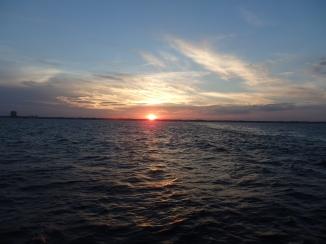 Sunset over Staten Island.