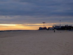 Coney Island sunset.