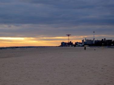Coney Island sunset.