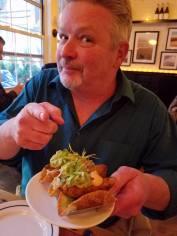 Fish taco at The Clam.