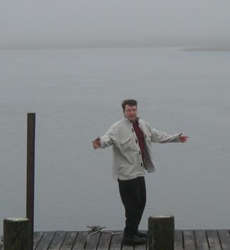 Jim on Mystic Island.