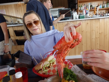 My lovely Ba in a crustacean situation.