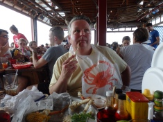 Jim bib at Brooklyn Crab.