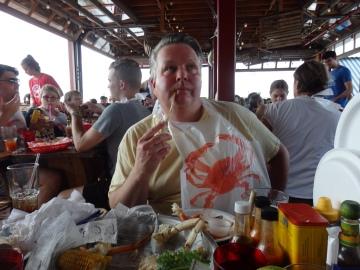 Jim bib at Brooklyn Crab.