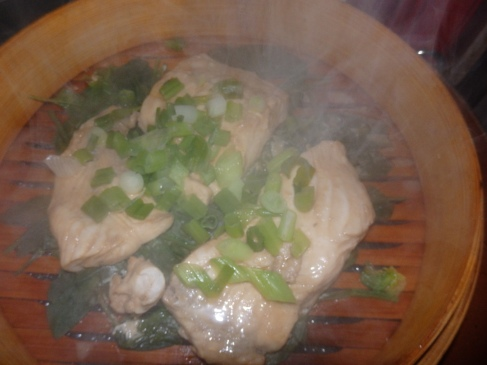 Steamed fluke.