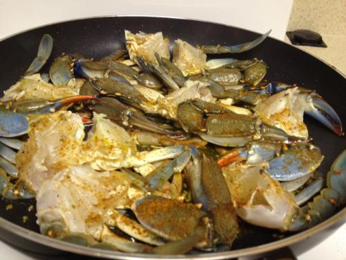 cleaned nj blue crabs