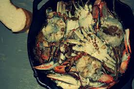 garlic blue crab