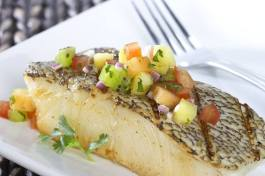 grilled bass