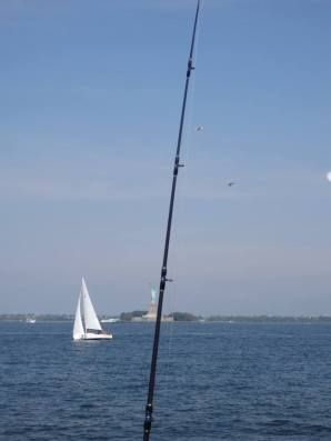 Fishing Statue of Liberty.