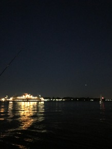 Ferry at Night From Battery.