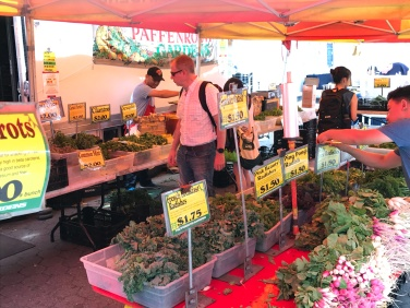 Shoppers at greenmarket.