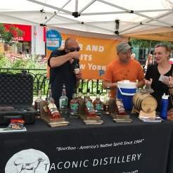 Sampling at Taconic distillery booth.