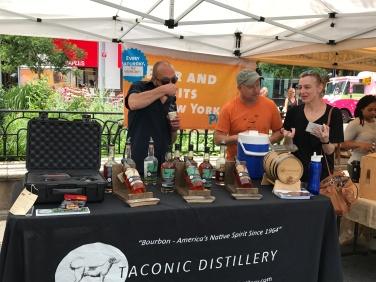 Sampling at Taconic distillery booth.