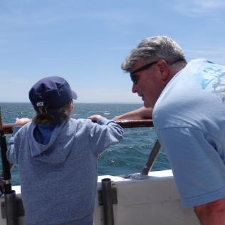 Jim and Jackson talking fish.