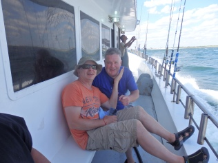 Neil and Jim on Ocean Eagle.