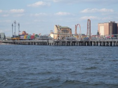 Coney Island from the ocean.