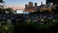 Movie night at Brooklyn Bridge Park.