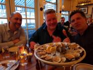 The boys at The Clam, NYC.
