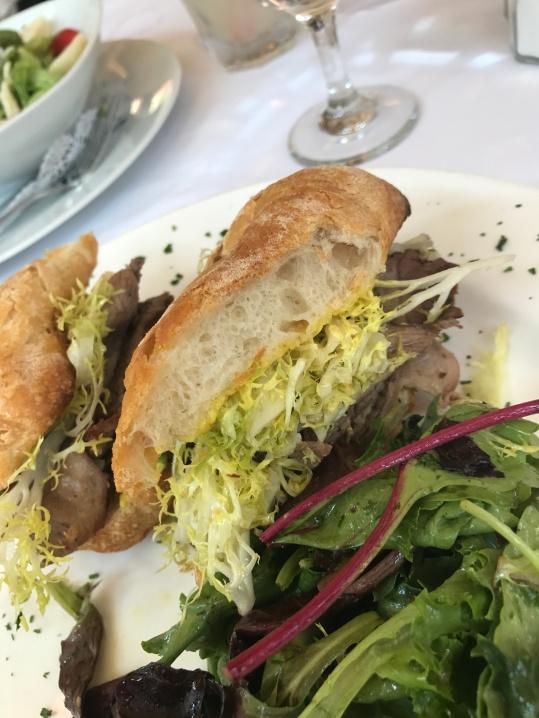 Agneau Roti, Salade Frisee & Amyonnaise au Curry at Felix.