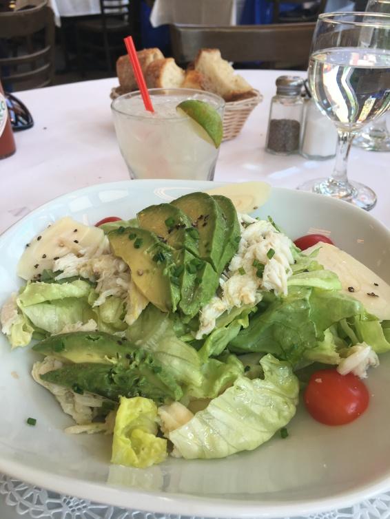 La Salade de Crabe, Huile d'Olive et Citron at Felix.