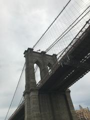 Brooklyn Bridge from park.