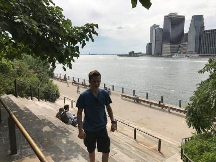 Kev at Brooklyn Bridge Park Amphitheater.
