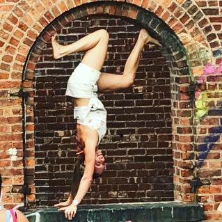 Acrobat Girl at St. Anne's Warehouse at Brooklyn Bridge Park.