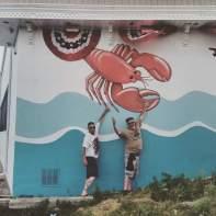 Colin, Jim & lobster.