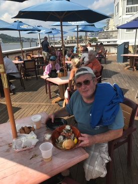 Jim with drunken clams.