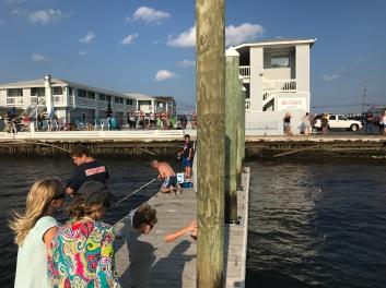 Fishing pier BeachWalk, Sea Bright, NJ.