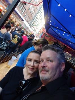 Kelly and Jim at San Gennaro.