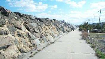 Sea Bright wall.