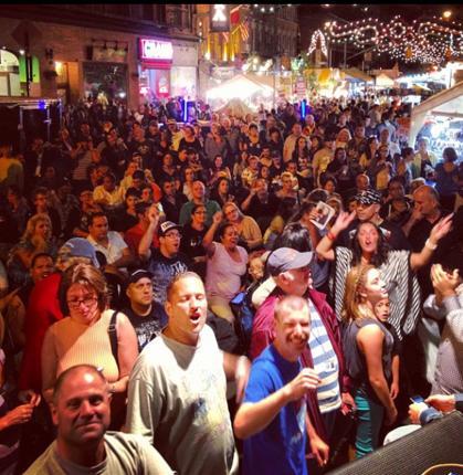 Big crowds at San Gennaro.
