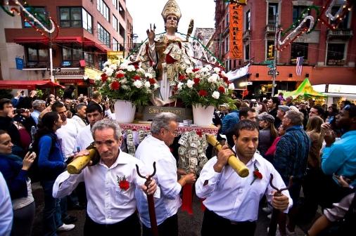 Procession at San Gennaro.