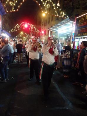 Marching band at San Gennaro.