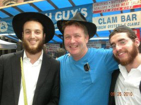 Jim and Jews at San Gennaro.