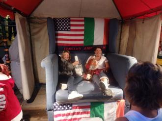 Gina and Christina at San Gennaro.