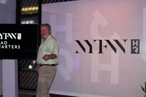 Jim at New York Fashion Week.