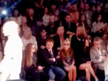 Front row at New York Fashion Week.