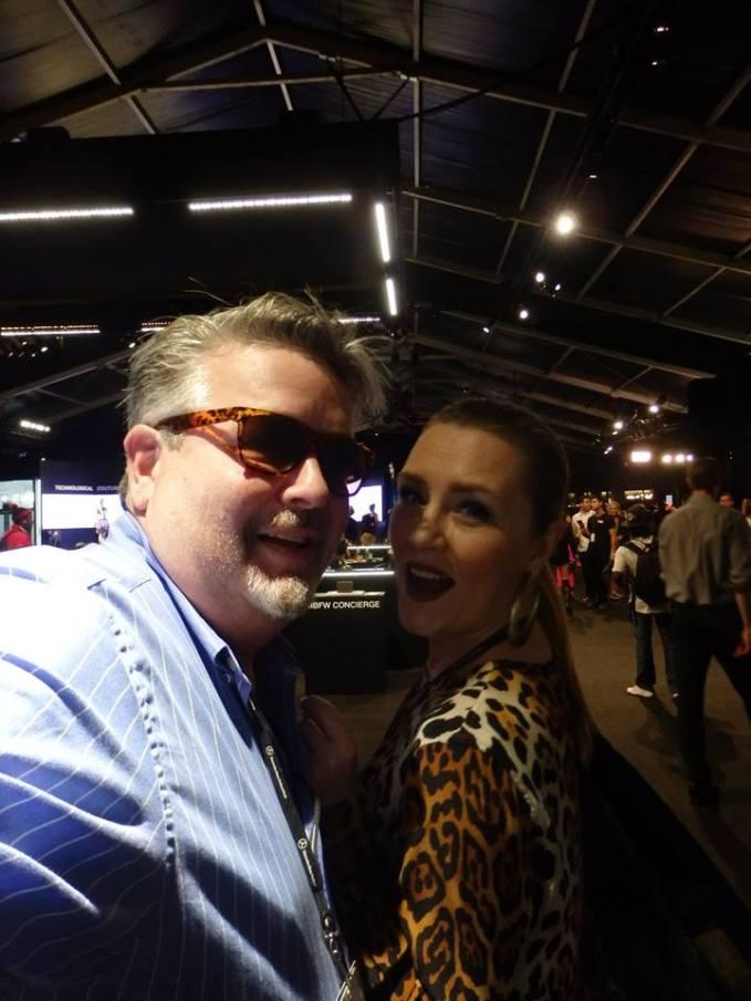 Jim and Kelly at New York Fashion Week.