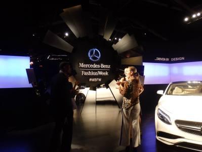 Mercedes at New York Fashion Week.