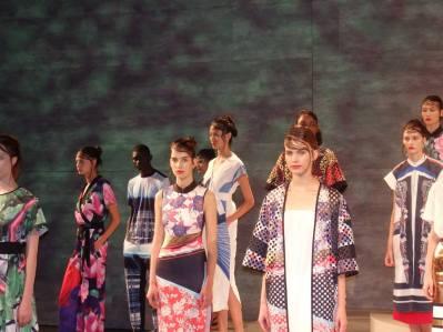 Models at New York Fashion Week.