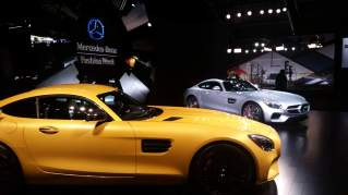 Mercedes Benz latest cars at New York Fashion Week.