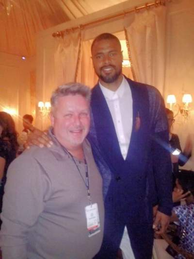 Jim and Tyson Chandler at New York Fashion Week.